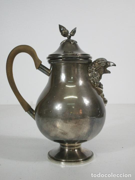Antigüedades: Antiguo Juego de Café, Te en Baño de Plata - Alpaca Plateada - Mendiola España - Foto 14 - 215260542