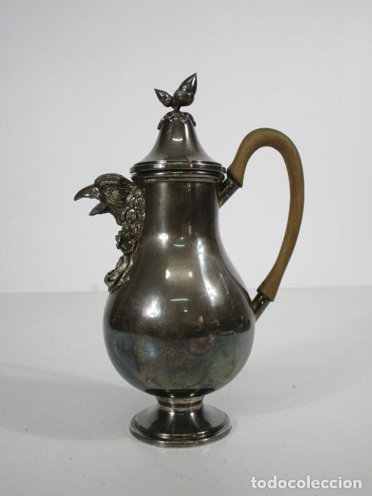 Antigüedades: Antiguo Juego de Café, Te en Baño de Plata - Alpaca Plateada - Mendiola España - Foto 18 - 215260542