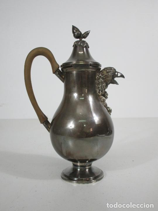Antigüedades: Antiguo Juego de Café, Te en Baño de Plata - Alpaca Plateada - Mendiola España - Foto 21 - 215260542