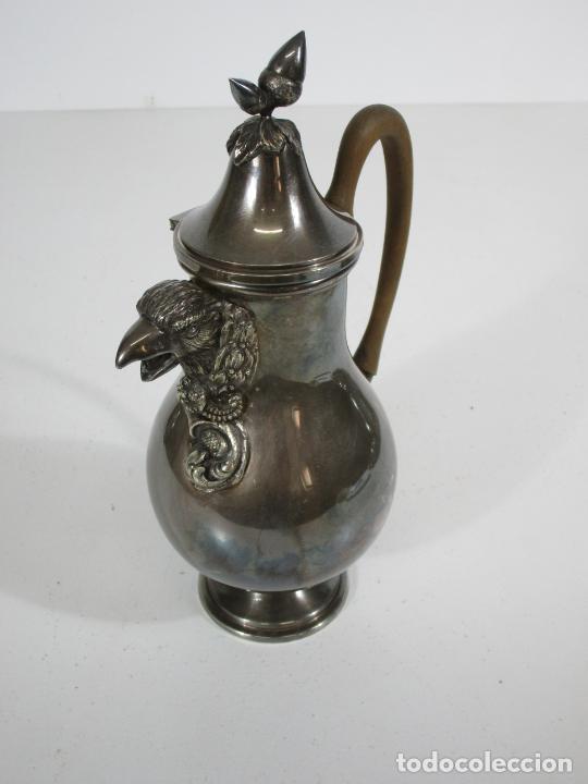 Antigüedades: Antiguo Juego de Café, Te en Baño de Plata - Alpaca Plateada - Mendiola España - Foto 22 - 215260542