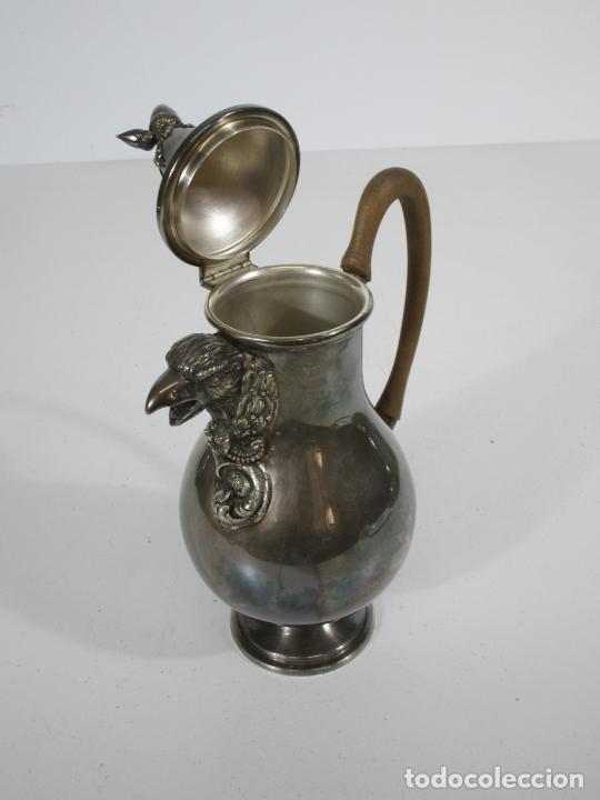 Antigüedades: Antiguo Juego de Café, Te en Baño de Plata - Alpaca Plateada - Mendiola España - Foto 23 - 215260542