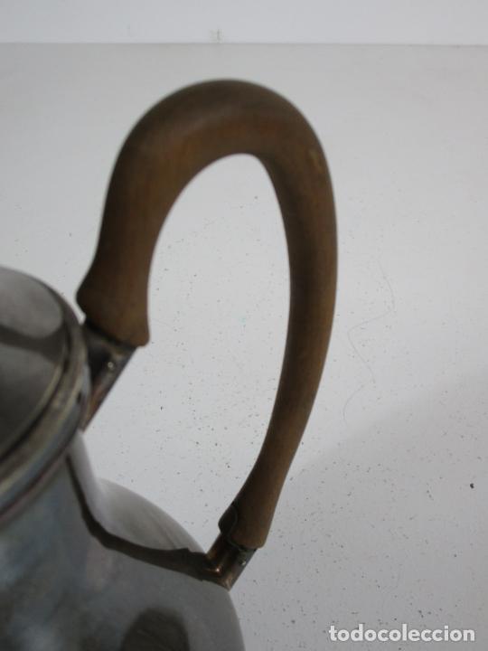 Antigüedades: Antiguo Juego de Café, Te en Baño de Plata - Alpaca Plateada - Mendiola España - Foto 28 - 215260542