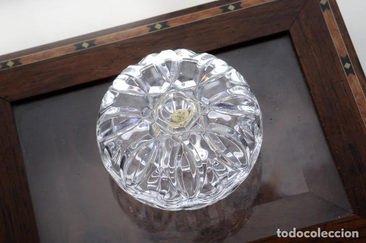 ANTIGUA AZUCARERA O RECIPIENTE CARAMELOS DE CRISTAL TALLADO, ROYAL CRYSTAL ROCK (Antigüedades - Cristal y Vidrio - Italiano)