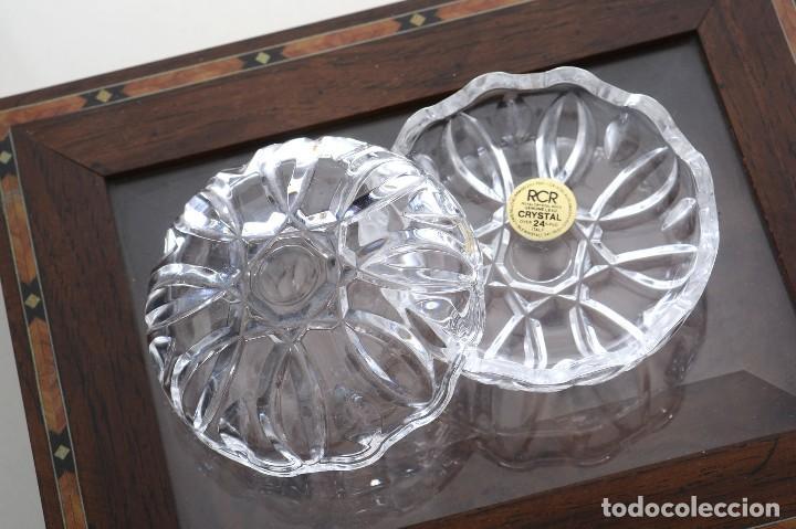 Antigüedades: Antigua azucarera o recipiente caramelos de cristal tallado, Royal Crystal rock - Foto 3 - 215264003