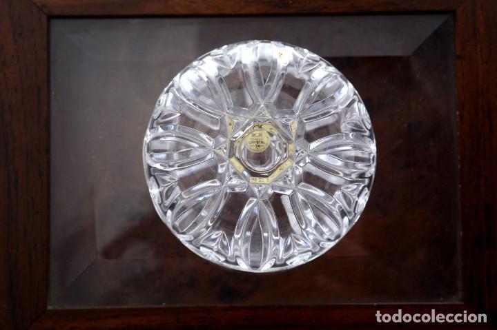 Antigüedades: Antigua azucarera o recipiente caramelos de cristal tallado, Royal Crystal rock - Foto 5 - 215264003