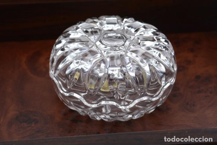 Antigüedades: Antigua azucarera o recipiente caramelos de cristal tallado, Royal Crystal rock - Foto 6 - 215264003
