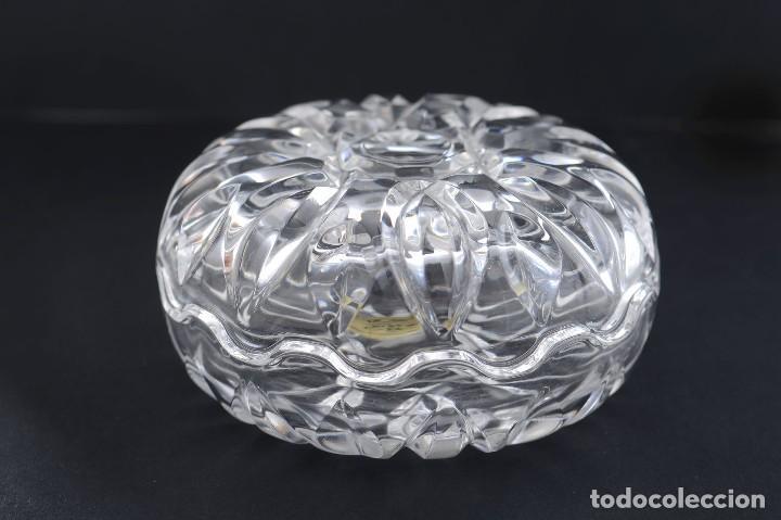 Antigüedades: Antigua azucarera o recipiente caramelos de cristal tallado, Royal Crystal rock - Foto 13 - 215264003
