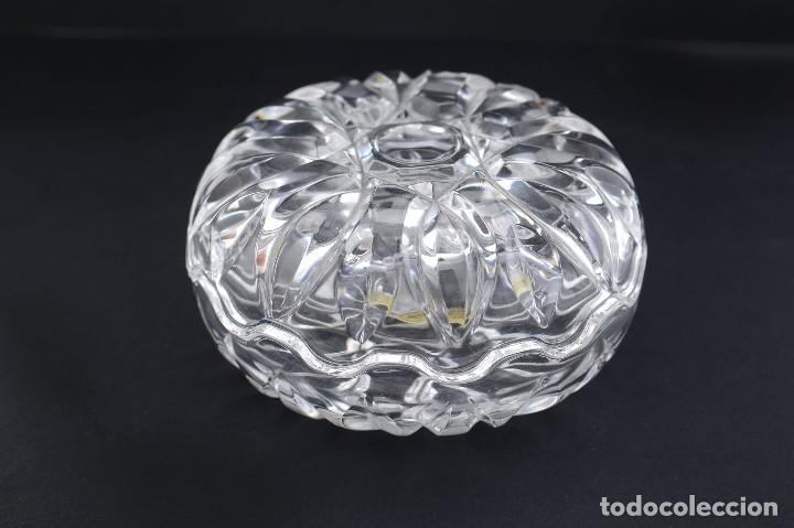 Antigüedades: Antigua azucarera o recipiente caramelos de cristal tallado, Royal Crystal rock - Foto 14 - 215264003