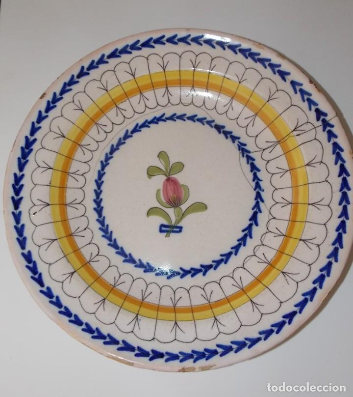 ANTIGUO PLATO LOZA CERAMICA MANISES ALFAR (Antigüedades - Porcelanas y Cerámicas - Manises)