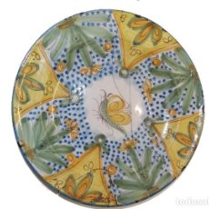 Antigüedades: ANTIGUO PLATO LOZA CERAMICA MANISES. Lote 215052161