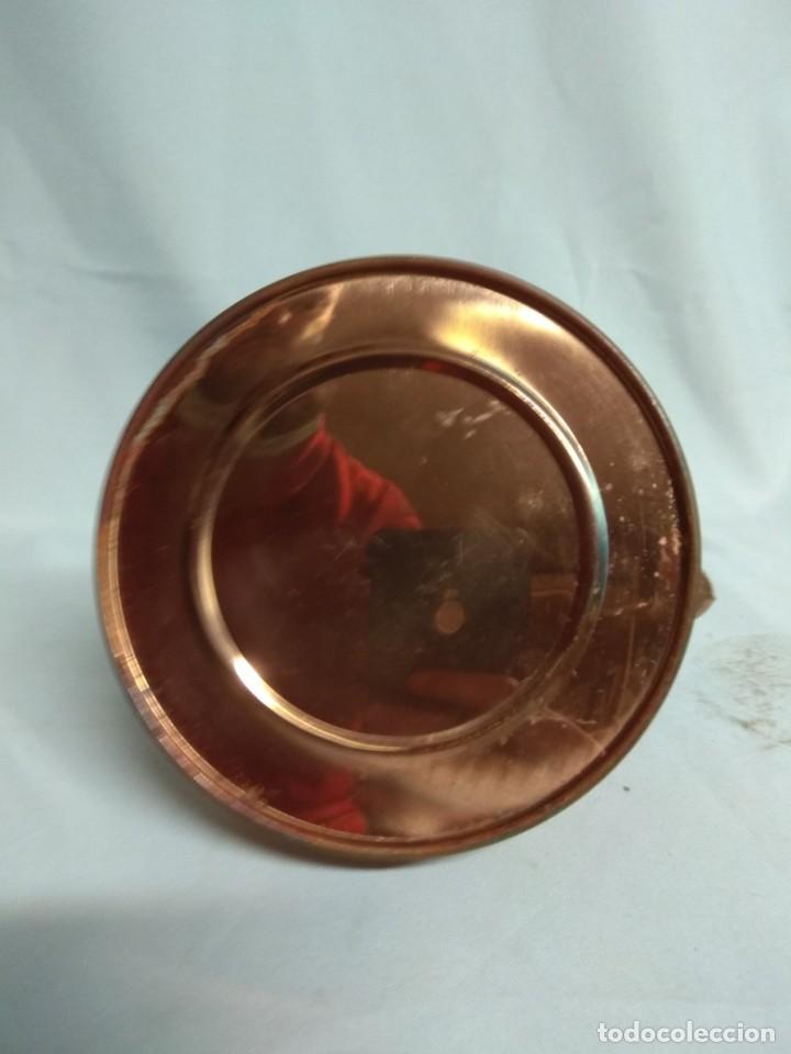 Antigüedades: Tetera/cafetera fabricada en cobre con tirador y asa de cerámica. - Foto 5 - 215264782