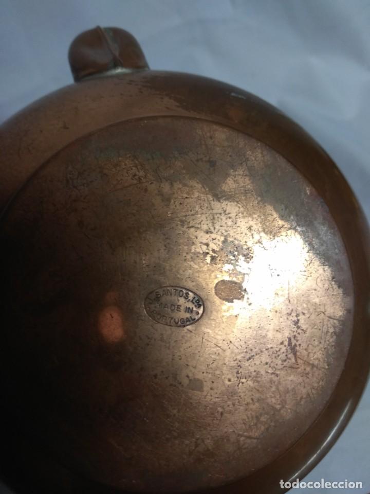 Antigüedades: Antigua tetera/cafetera fabricada en cobre con mango de madera. J. Santos, LDA. Made in Portugal. - Foto 6 - 215265331
