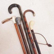 Antigüedades: LOTE DE CINCO BASTONES ANTIGUOS. Lote 215274632