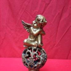 Antigüedades: ANGELITO DORADO EN RECINA. Lote 215283397
