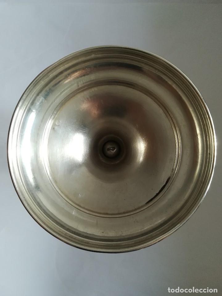 Antigüedades: Caliz mediados Siglo XX en plata de ley , Alt 23,5 cms. Peso 415 grs. - Foto 5 - 215288521