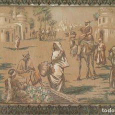 Antigüedades: ANTIGUO TAPIZ ORIENTALISTA ARABE MEDIDAS 55 X 38 CM. Lote 215300705
