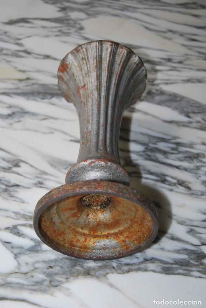 Antigüedades: JARRÓN MODERNISTA DE HIERRO - JARDÍN - FLORERO - COPA - FRANCIA - SIGLO XIX - Foto 6 - 215319677