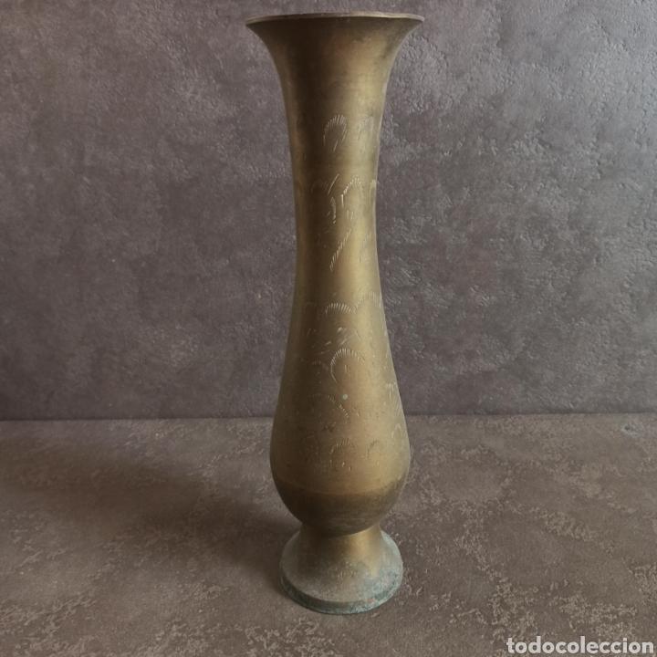 JARRON DE LATON (Antigüedades - Hogar y Decoración - Floreros Antiguos)