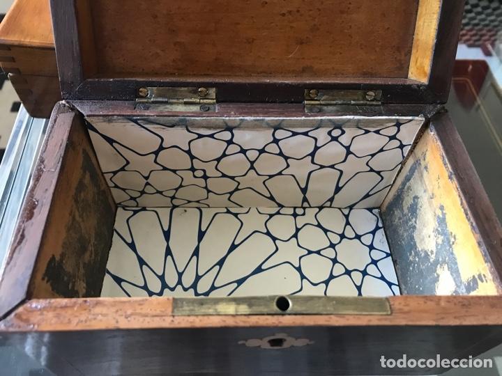 Antigüedades: Caja de té inglesa - Foto 3 - 215325071