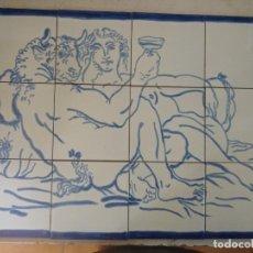 Antigüedades: MINOTAURO EN AZULEJOS. Lote 215329153