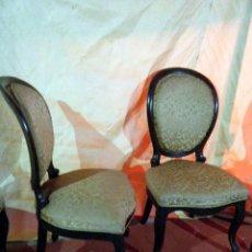 Antiguidades: LOTE CUATRO SILLAS ISABELINAS. Lote 215364536