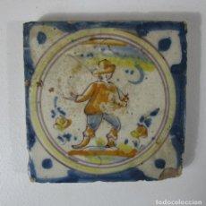 Antigüedades: ANTIGUO AZULEJO CATALÁN - RAJOLA CATALANA - S. XVIII. Lote 215376136