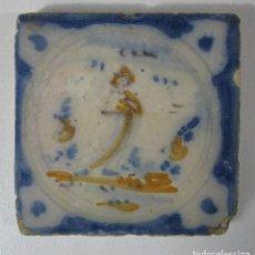 Antigüedades: ANTIGUO AZULEJO CATALÁN - RAJOLA CATALANA - S. XVIII. Lote 215376396