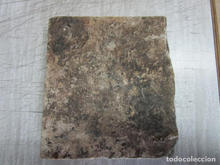 Antigüedades: Antiguo Azulejo Catalán - Rajola Catalana - S. XVIII - Foto 2 - 215377783