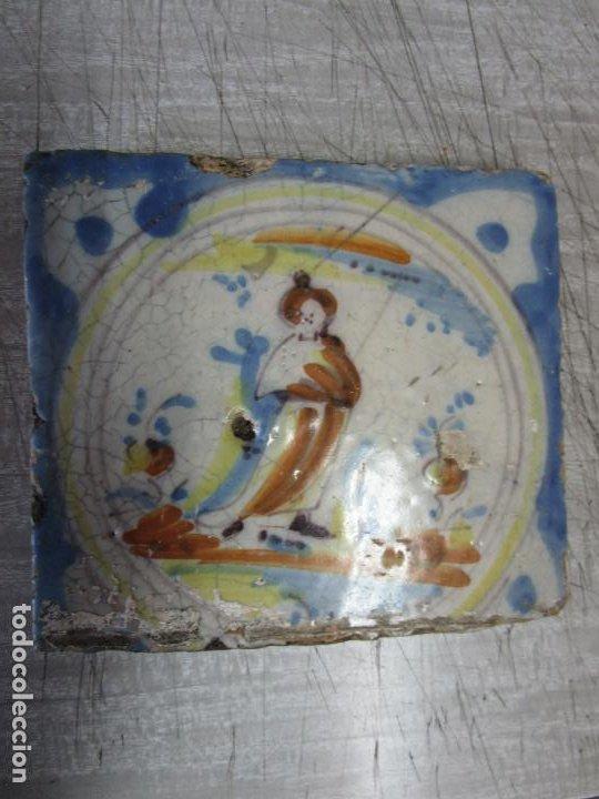 Antigüedades: Antiguo Azulejo Catalán - Rajola Catalana - S. XVIII - Foto 3 - 215377783