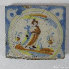 Antigüedades: ANTIGUO AZULEJO CATALÁN - RAJOLA CATALANA - S. XVIII. Lote 215377783
