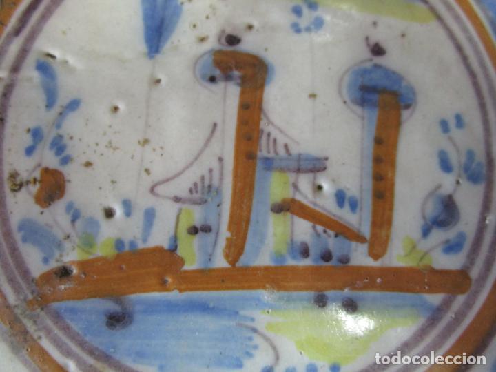 Antigüedades: Antiguo Azulejo Catalán - Rajola Catalana - S. XVIII - Foto 3 - 215377862