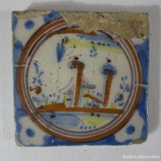 Antigüedades: ANTIGUO AZULEJO CATALÁN - RAJOLA CATALANA - S. XVIII. Lote 215377862