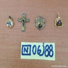 Antigüedades: LOTE DE MEDALLAS RELIGIOSAS CHAPADAS EN ORO. Lote 215393721