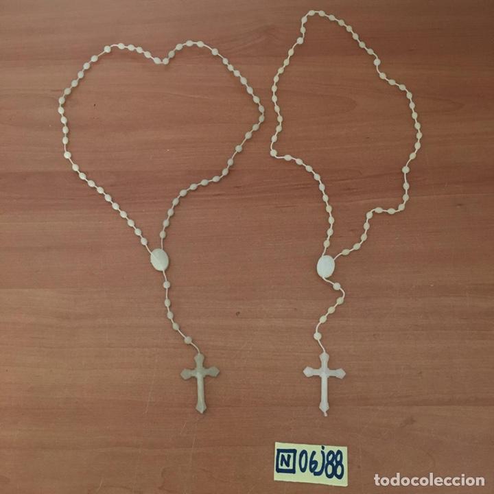 LOTE DE ROSARIOS (Antigüedades - Religiosas - Rosarios Antiguos)