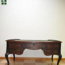 Antigüedades: MESA ANTIGUA ISABELINA ESCRITORIO DE MADERA SIGLO XIX. Lote 236705315