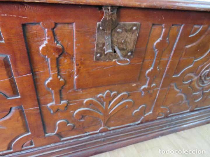 Antigüedades: ARCA GOTICO TARDIO S.XVI PIRINEO ARAGONES - Foto 4 - 215498495