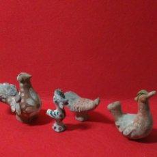 Antigüedades: LOTE DE CERAMICA ANTIGUA ,EN FORMA DE AVES ,. Lote 215537943