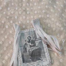Antigüedades: ANTIGUO ESCAPULARIO SAN JOSÉ. Lote 184721121