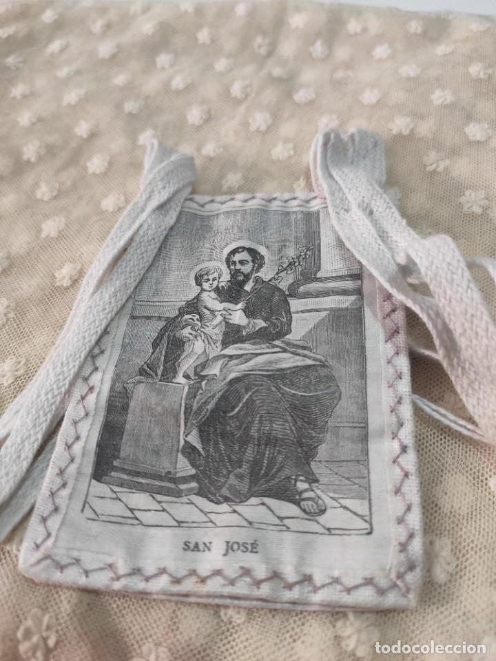 Antigüedades: ANTIGUO ESCAPULARIO SAN JOSÉ - Foto 5 - 184721121
