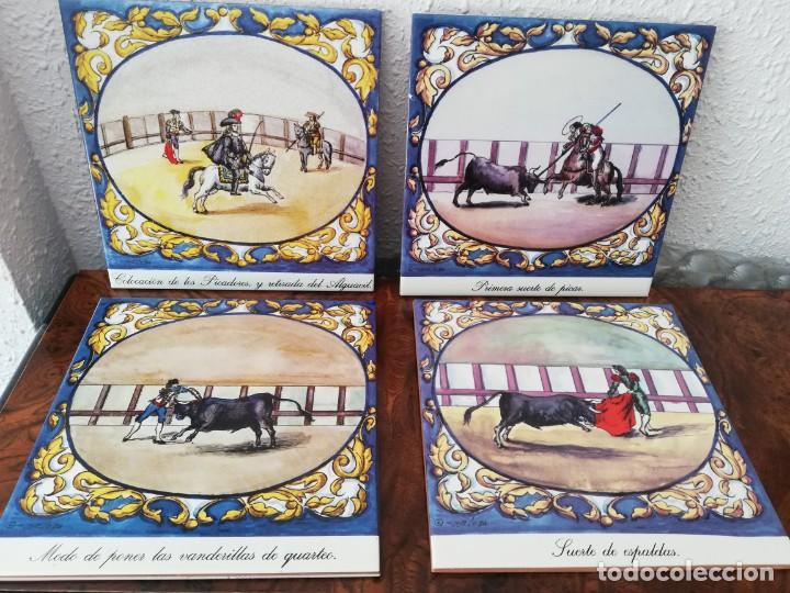 CUATRO AZULEJOS CERÁMICOS (Antigüedades - Porcelanas y Cerámicas - Azulejos)