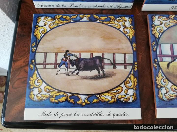 Antigüedades: Cuatro azulejos cerámicos - Foto 3 - 215588931