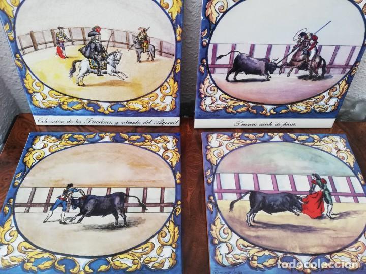 Antigüedades: Cuatro azulejos cerámicos - Foto 4 - 215588931