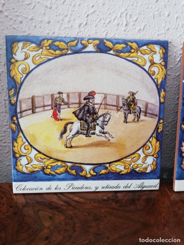Antigüedades: Cuatro azulejos cerámicos - Foto 6 - 215588931