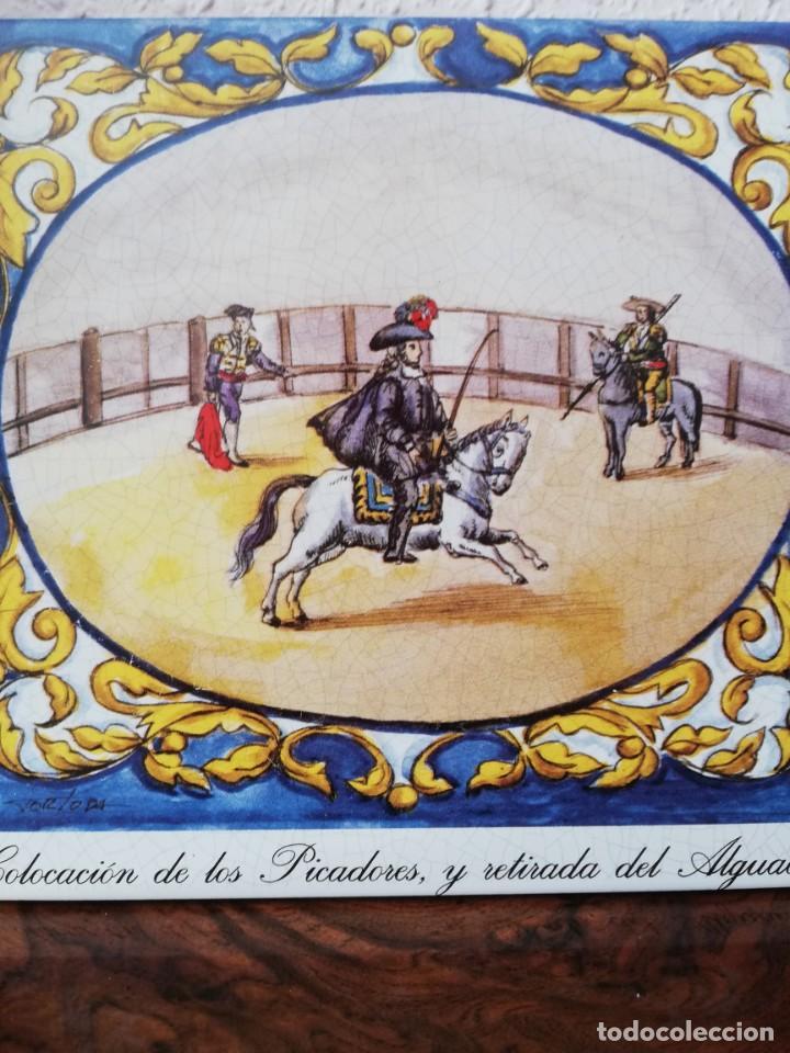 Antigüedades: Cuatro azulejos cerámicos - Foto 8 - 215588931