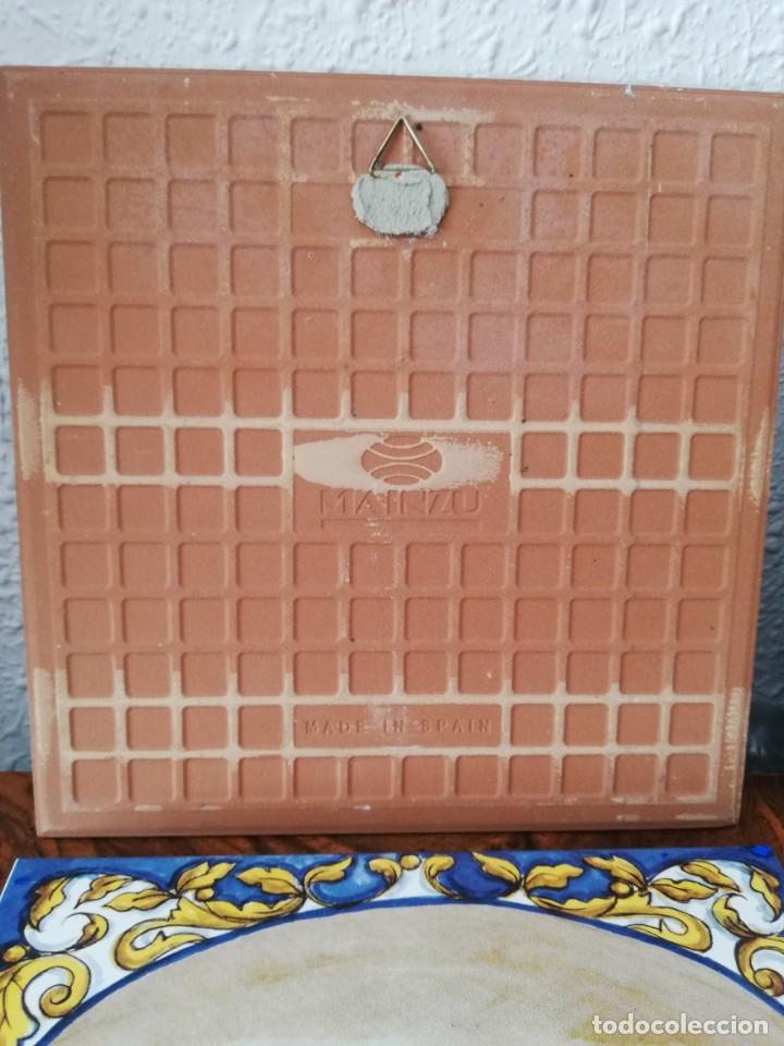 Antigüedades: Cuatro azulejos cerámicos - Foto 9 - 215588931