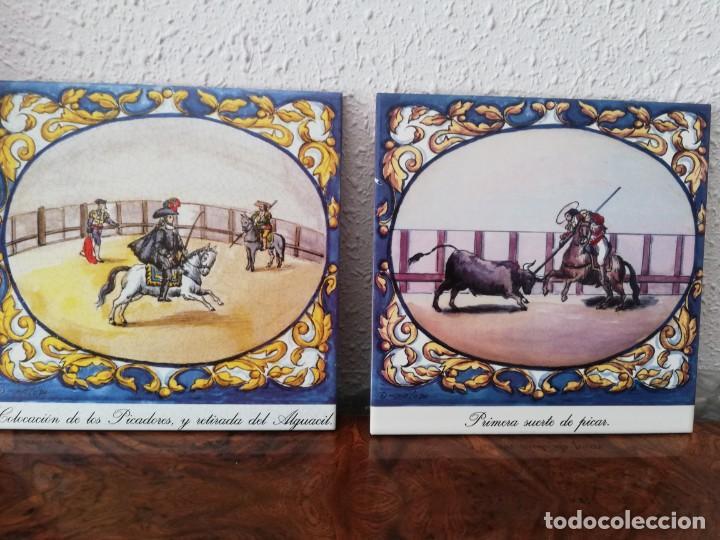 Antigüedades: Cuatro azulejos cerámicos - Foto 11 - 215588931