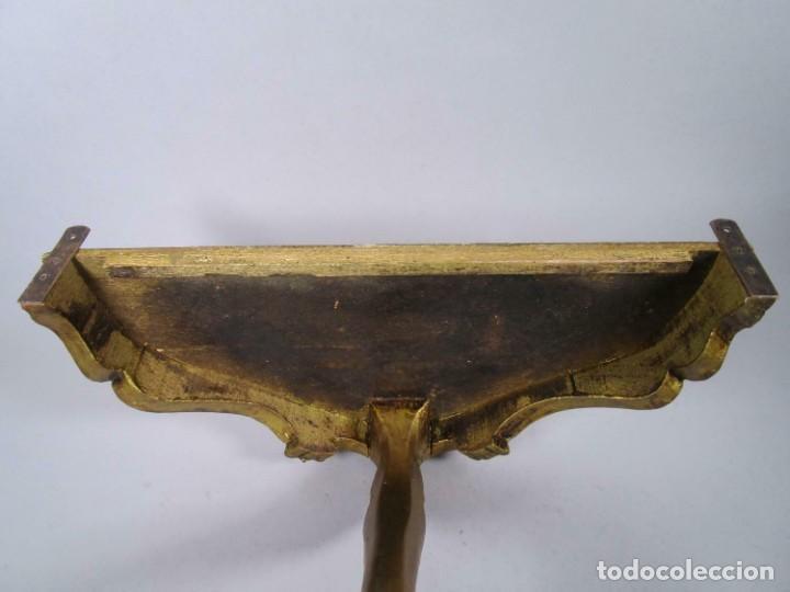 Antigüedades: PERFECTA MAGNIFICA Y PEQUEÑA CONSOLA PAN DE ORO SIGLO XVIII MADERA , aprox. 54 x 25 cm 290,00 € - Foto 3 - 215590052