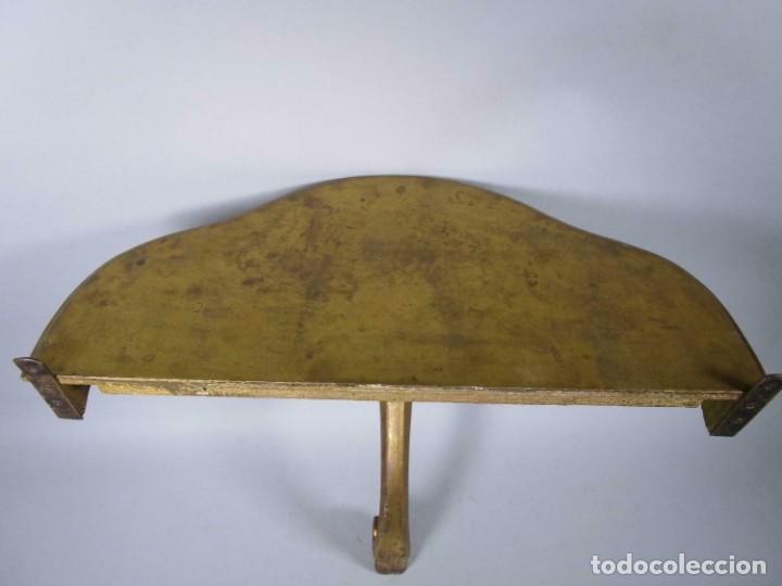 Antigüedades: PERFECTA MAGNIFICA Y PEQUEÑA CONSOLA PAN DE ORO SIGLO XVIII MADERA , aprox. 54 x 25 cm 290,00 € - Foto 6 - 215590052
