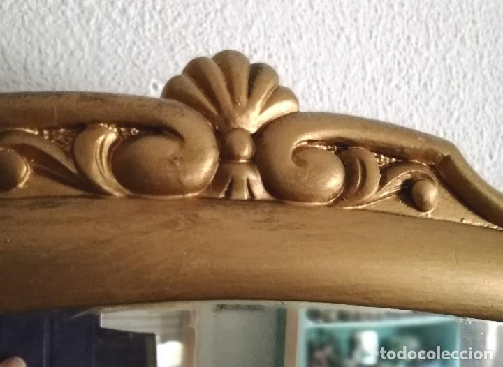 Antigüedades: Antiguo espejo tipo conuscopia, de madera, biselado - Foto 2 - 45185279