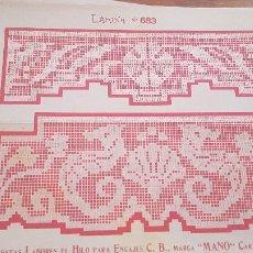 Antiguidades: EL CONSULTOR DE LOS BORDADOS-LAMINA Nº683. Lote 215641026